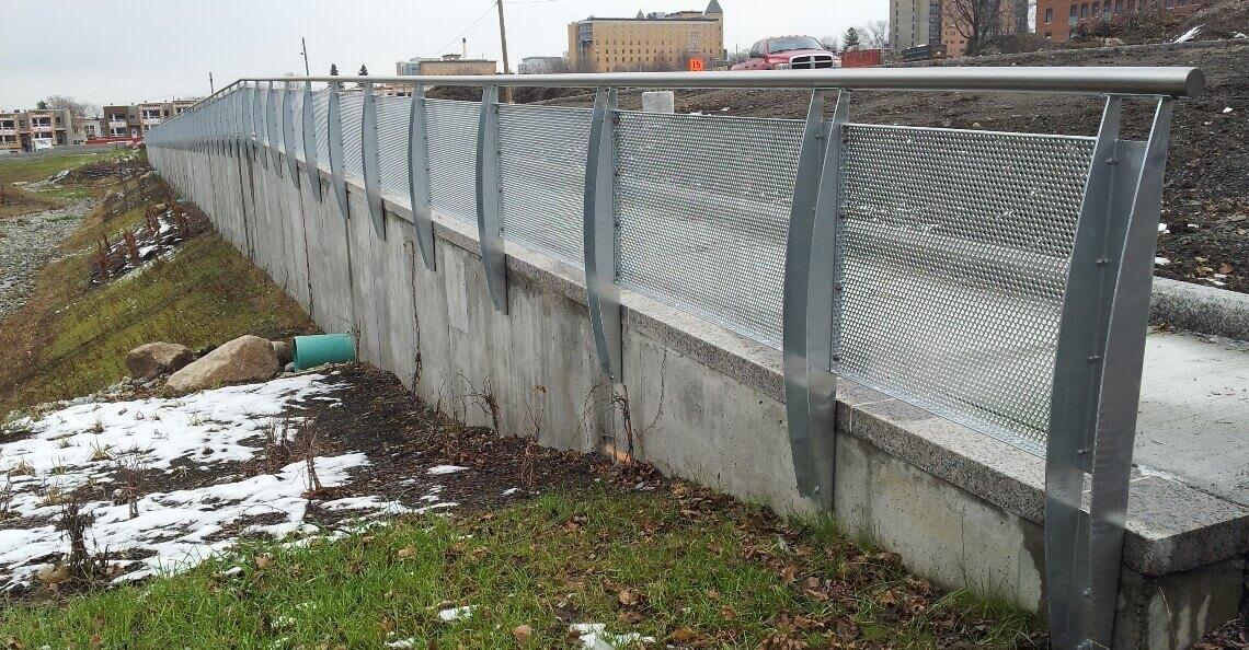 Mur de soutènement, Cité Verte à Québec